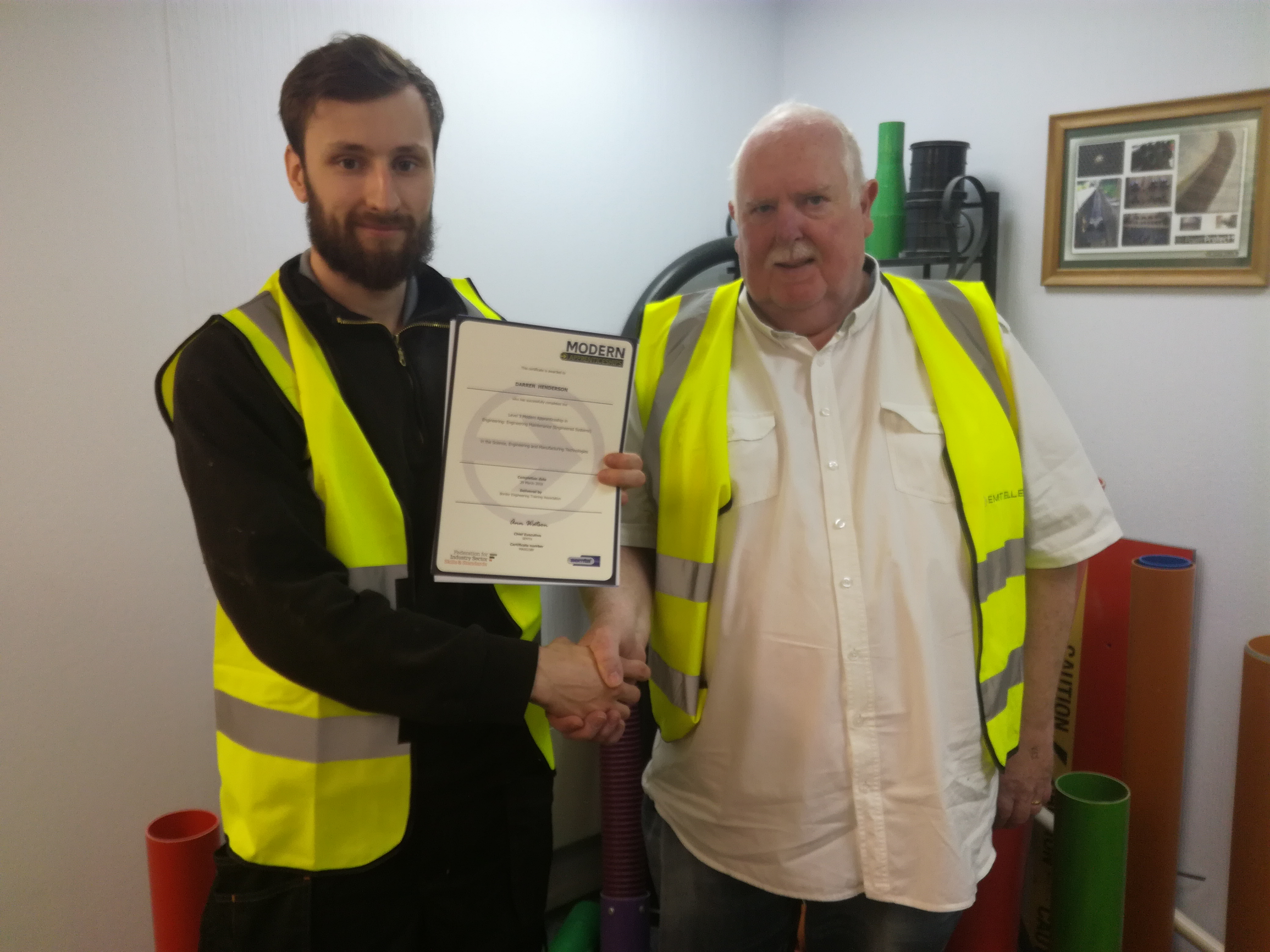 Stuart CAmpbell with his MA Certificate